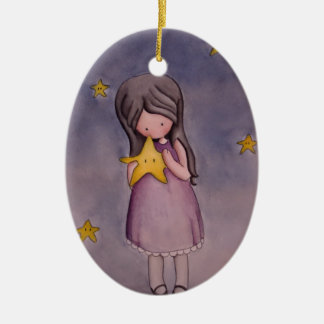 Girl with Kawaii Star Ornament