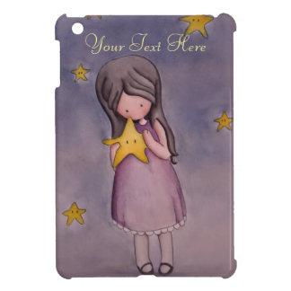 Girl with Kawaii Stars iPad Mini Case
