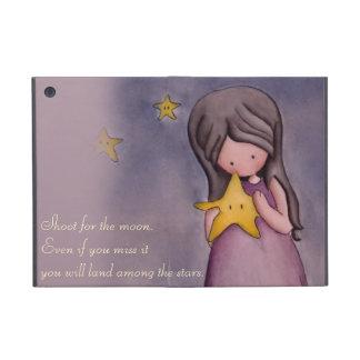 Girl with Kawaii Stars Powis iPad Mini Case