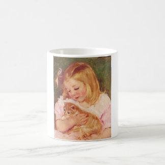 Girl with Kitten, Mary Cassatt Coffee Mug
