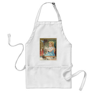 Girl with kittens apron