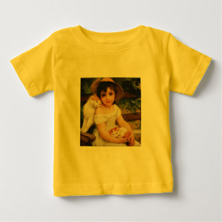 Girl with Kittens Baby T-Shirt