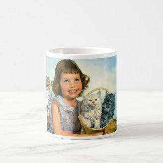 Girl with kittens in Germany Coffee Mug