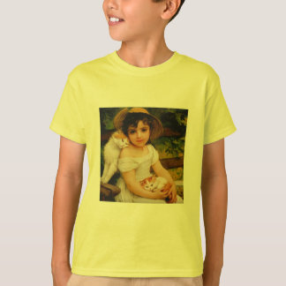 Girl with Kittens T-Shirt