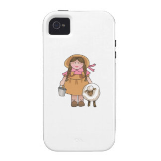 GIRL WITH LAMB iPhone 4/4S COVER