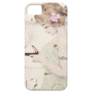 Girl with Lamp Art Nouveau iPhone 5 Cases