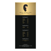 Girl with Lashes on Faux Gold Beauty Rack Card