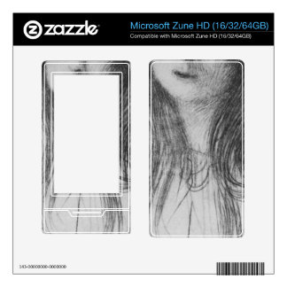 Girl with long hair by Gustav Klimt Decal For The Zune HD