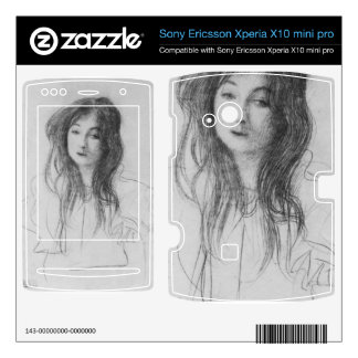 Girl with long hair by Gustav Klimt Xperia X10 Skins