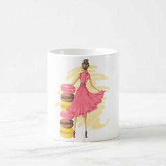 Girl With Macarons Pink Magic Mug
