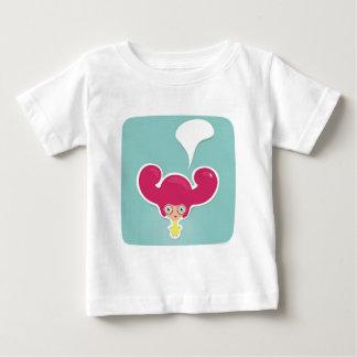 Girl with magenta hair baby T-Shirt