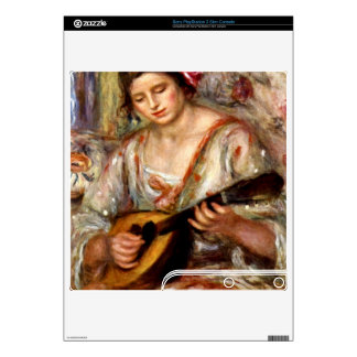 Girl with mandolin by Pierre Renoir PS3 Slim Console Skins