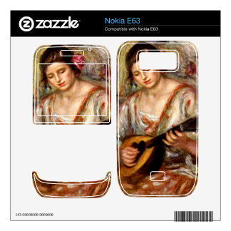 Girl with mandolin by Pierre Renoir Decal For The Nokia E63