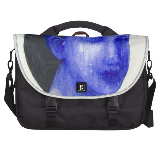 Girl with no face (surreal realism) laptop messenger bag