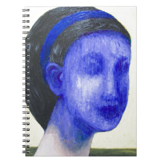Girl with no face (surreal realism) notebook