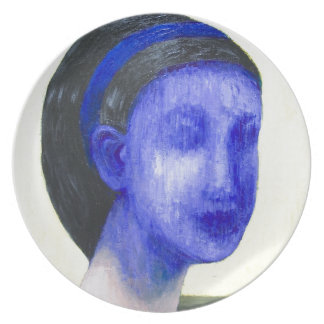 Girl with no face (surreal realism) plates
