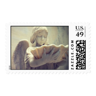 """""""Girl with Oyster Shell"""" postage stamp"""