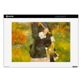 Girl with Parasol by Pierre Renoir Laptop Decal