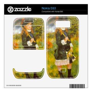 Girl with Parasol by Pierre Renoir Nokia E63 Skins