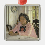 Girl with Peaches, 1887 Metal Ornament