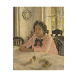 Girl with Peaches, 1887 Wood Print