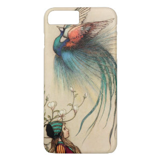 Girl with Peacock vintage painting iPhone 8 Plus/7 Plus Case