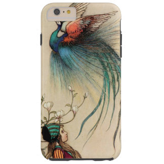Girl with Peacock vintage painting Tough iPhone 6 Plus Case