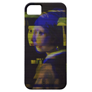 Girl with pearl earring Glitch case. iPhone 5 Case
