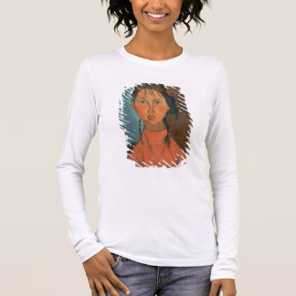 Girl with Pigtails, c.1918 (oil on canvas) Long Sleeve T-Shirt