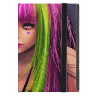 Girl with Pink Hair iPad Mini Covers