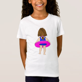 Girl with Pink Inner Tube Tshirt