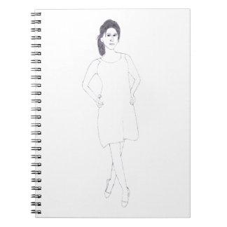 Girl with Plain Dress notebook