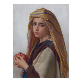 Girl With Pomegranate by Bouguereau Poster