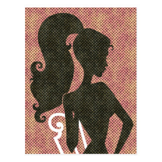 Girl With Pony Tail Postcard