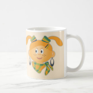 Girl with ponytails mug