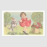 Girl with Poodle Sticker