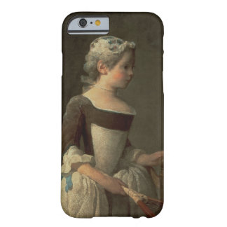 Girl with Racket and Shuttlecock Barely There iPhone 6 Case