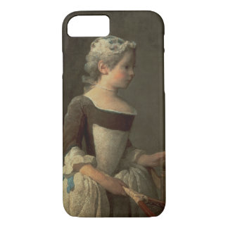 Girl with Racket and Shuttlecock iPhone 8/7 Case