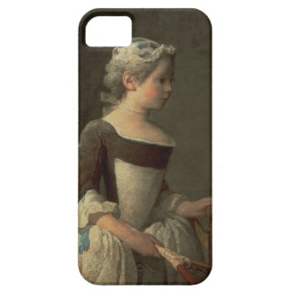 Girl with Racket and Shuttlecock iPhone SE/5/5s Case
