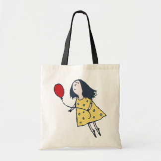 Girl with Red Balloon Tote Bag