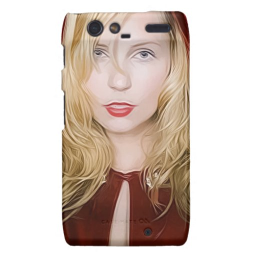 girl with red cape motorola droid RAZR cases
