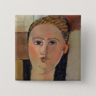 Girl with red hair, 1915 button