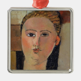 Girl with red hair, 1915 metal ornament
