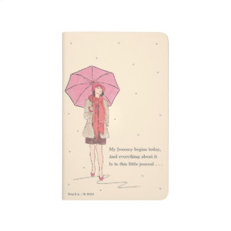 Girl With Red Umbrella / Pocket Journal