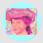 girl with renoir hat stickers