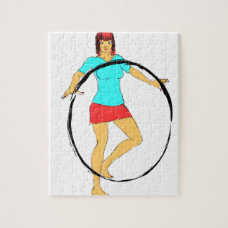 Girl with Ring Puzzles