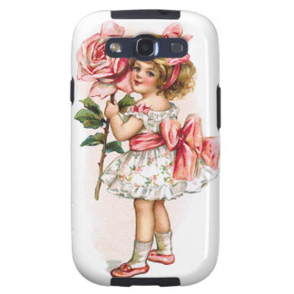 Girl with Rose Galaxy S3 Cases