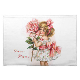 Girl with Rose Placemat
