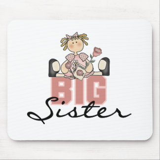 Girl with Roses Big Sister Mouse Pad