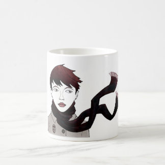 girl with scarf cup